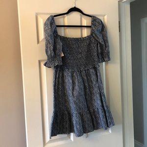 Aritzia Wilfred Blue Floral Dress